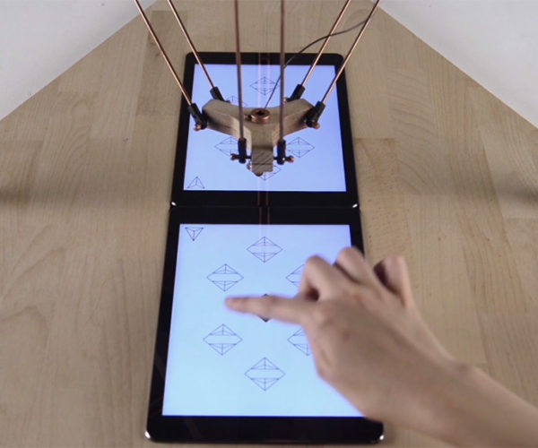 Deltu Robot Plays Games with Humans on an iPad