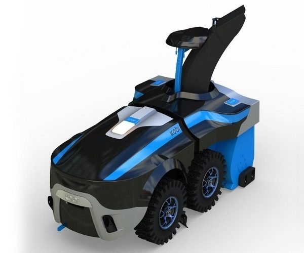 Kobi Robot Looks Like a Batmobile, Does All Your Yard Work