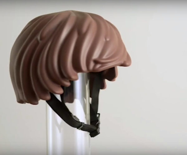 LEGO Minifig Hair Bicycle Helmet: Hair It Is