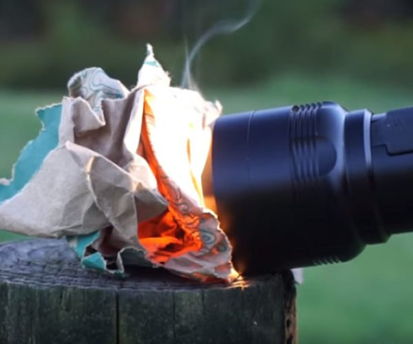 The FlashTorch Mini Can Start Fires and Cook Breakfast