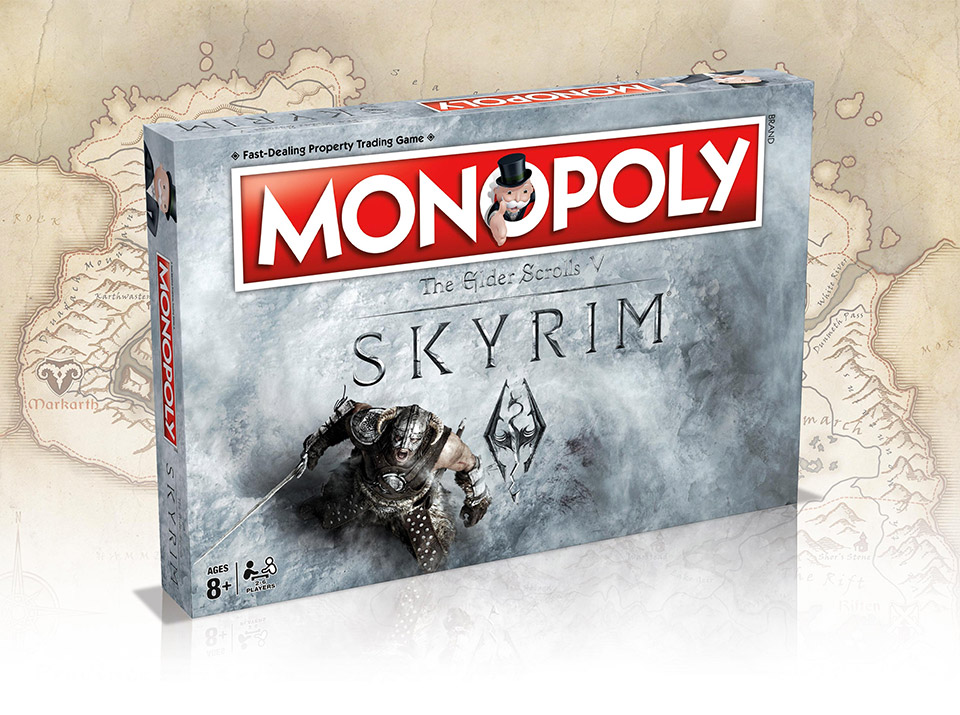 Skyrim Monopoly: Fus Ro Dah Directly to Jail  Do Not Pass Go
