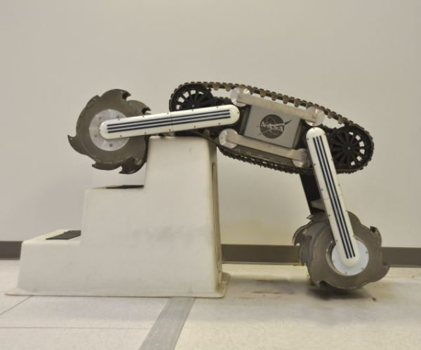 NASA RASSOR 2.0 Rover Struts Its Stuff