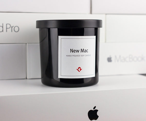 This Scented Candle Smells Like a Brand New Apple Mac Computer