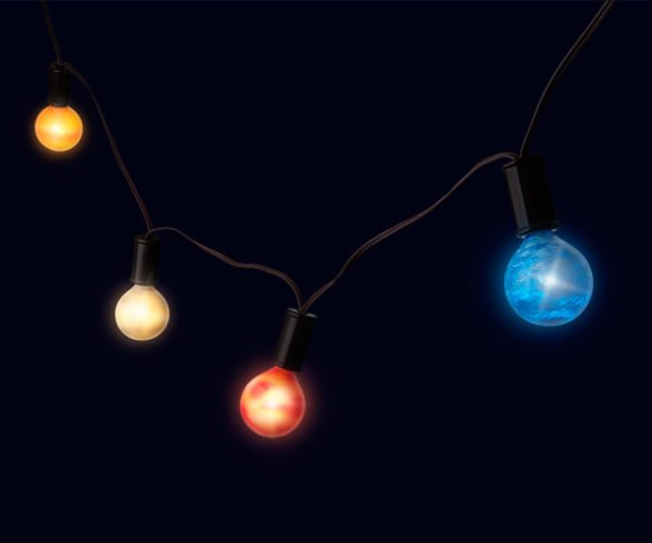 Planetary String Lights Bring the Solar System to the Party