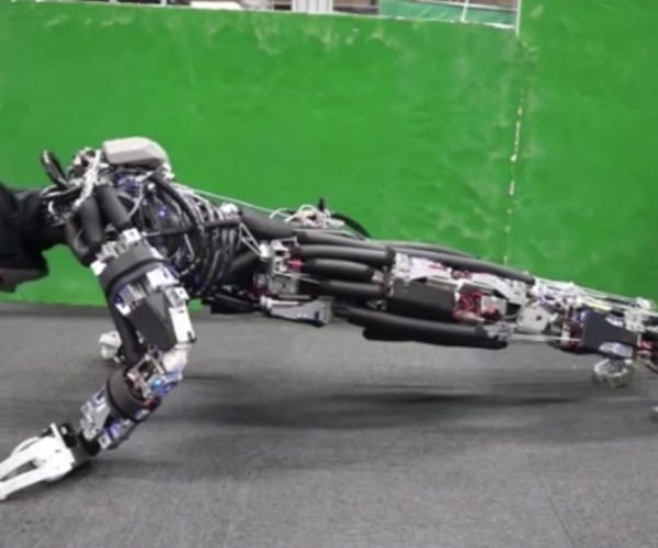 This Humanoid Robot Does Pushups, Sweats