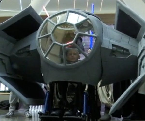 Boy Battling Brain Cancer Gets a TIE Fighter Wheelchair