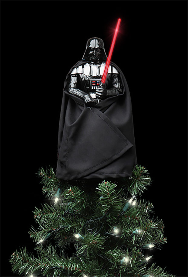Darth Vader Tree Topper Finds Your Lack Of Presents