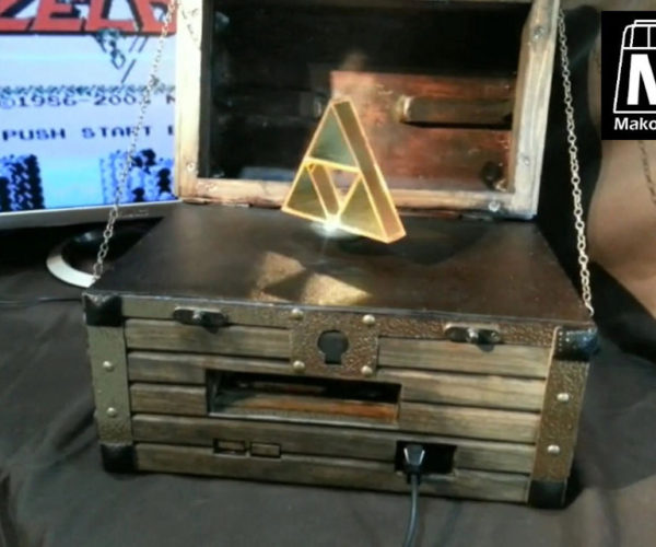 This Zelda Treasure Chest Holds an NES and a Levitating Triforce