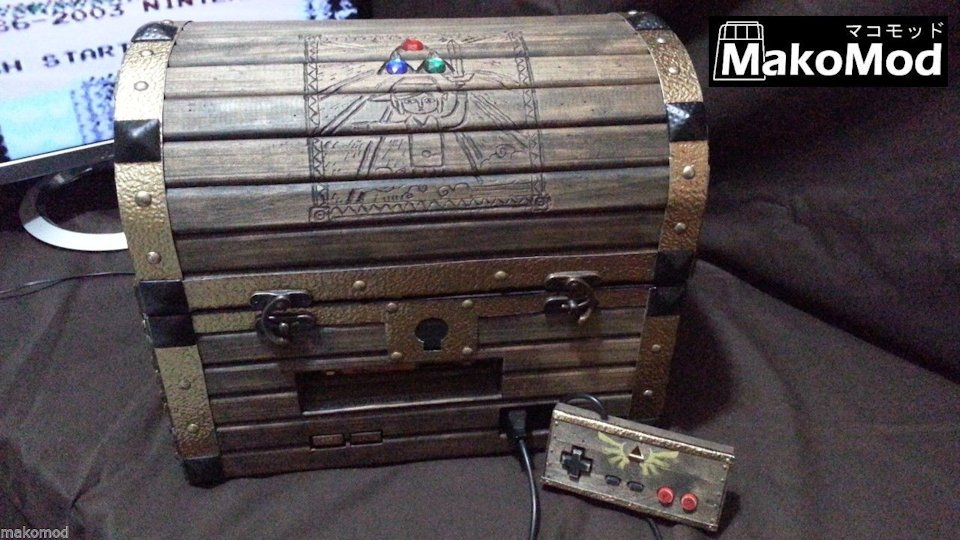 This Zelda Treasure Chest Holds an NES and a Levitating