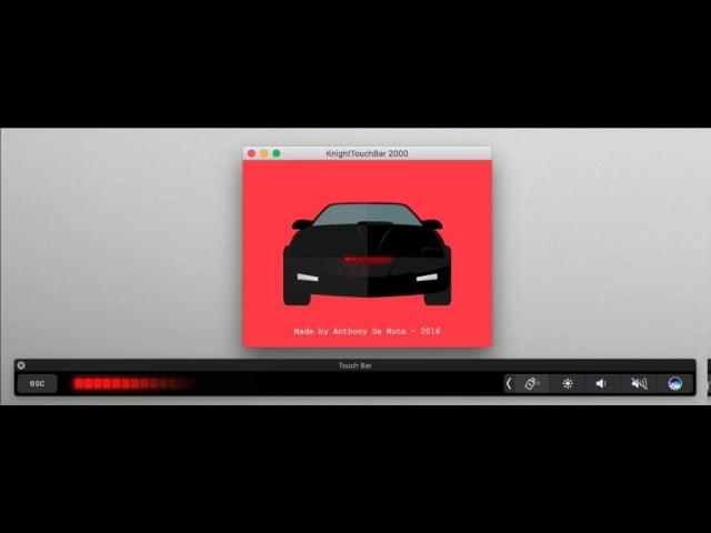 Macbook Pro Touch Bar Turns Into Knight Rider S Kitt