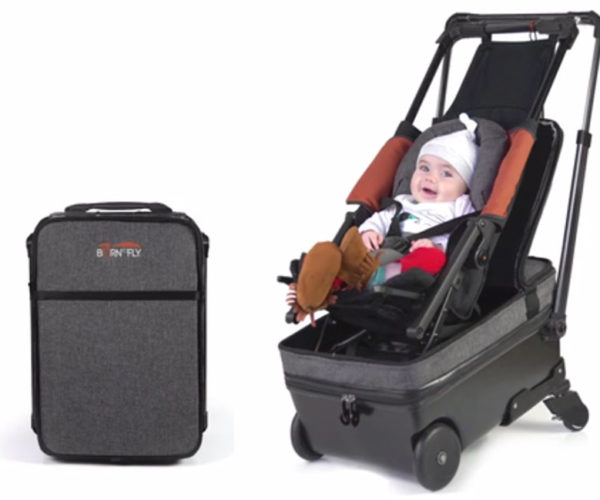 Born to Fly Suitcase Doubles as a Baby Stroller