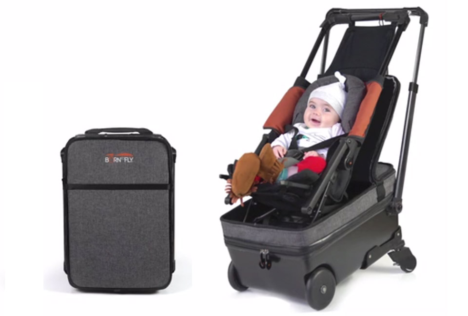 Born To Fly Suitcase Doubles As A Baby Stroller Technabob