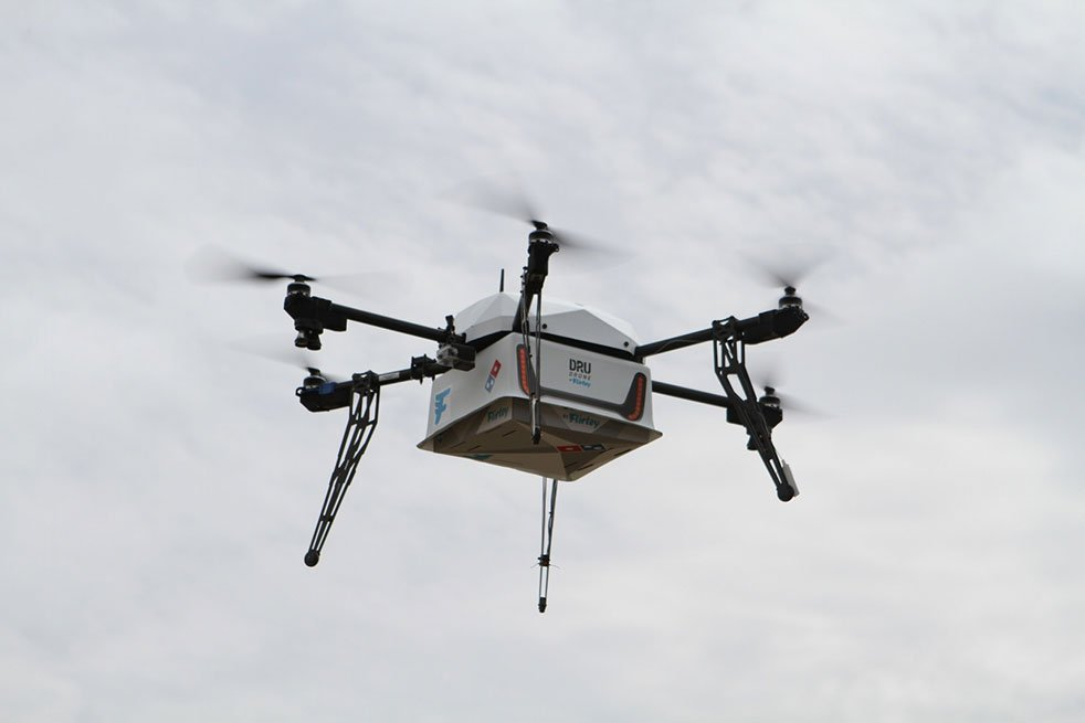 Domino's delivers first pizza by drone