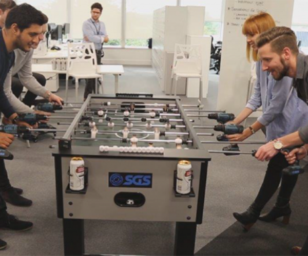 Power Drill Foosball: GOOOOOAAAALLLL!