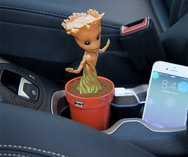 Baby Groot USB Car Charger Dances to Your Music