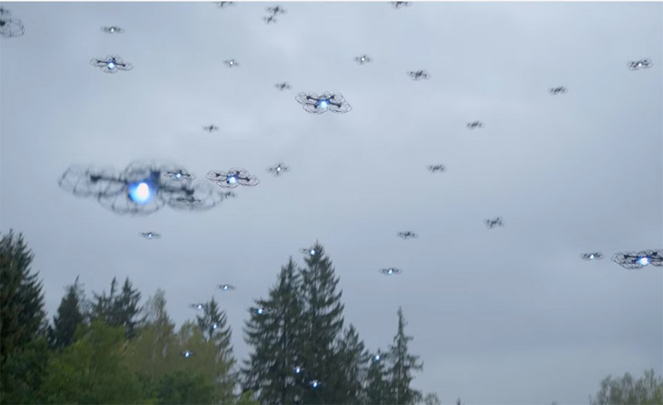 who flies drones with Intel Drone Light Show World Record on Intel Drone Light Show World Record together with Vertikul Takes Off Like A Helicopter But Flies Like A Fixed Wing Aircraft moreover Diy Star Wars Speeder Bike Flies Through The Woods furthermore 89980082 likewise Us Drones Tools Of Modern Warfare.