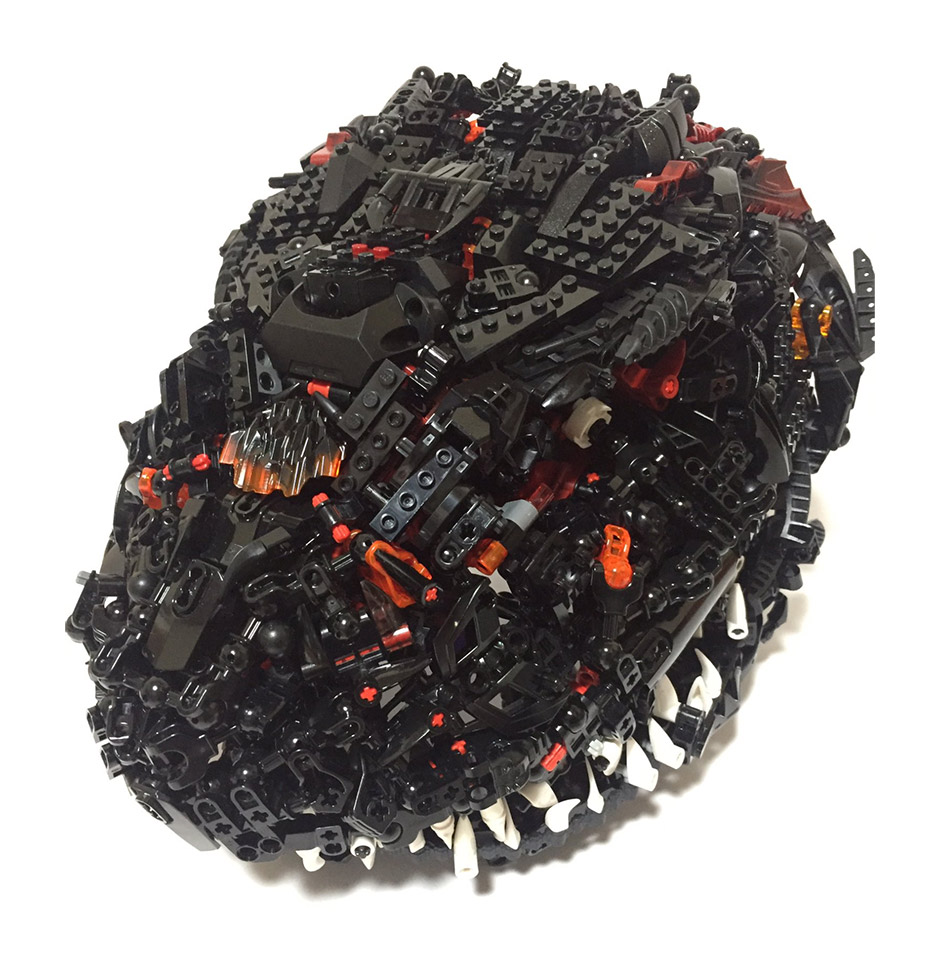 Godzilla Mask Made From Lego Will Crush Your Head Technabob