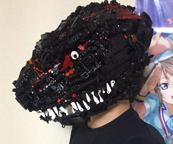 Godzilla Mask Made From LEGO Will Crush Your Head