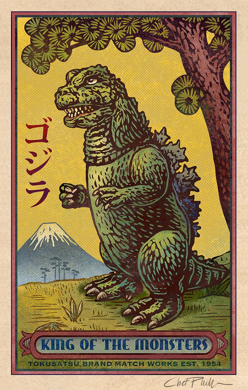 Monsters Meet Vintage Matchboxes