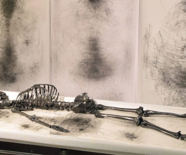 This Life-Size Skeleton Will Vibrate Itself to Death