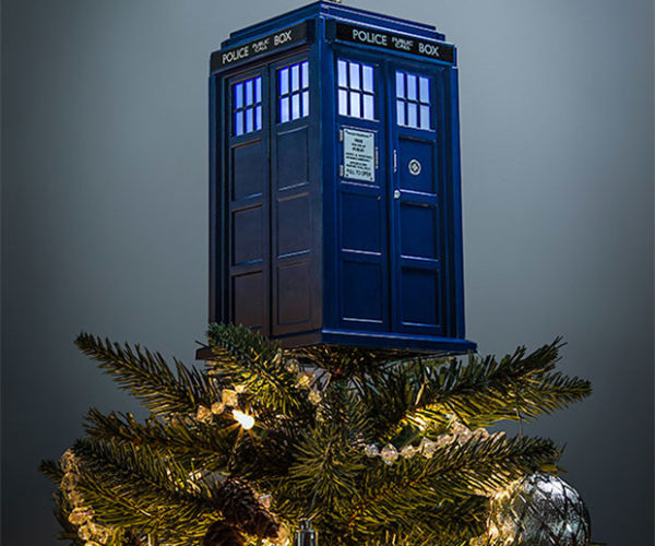 Doctor Who TARDIS Tree Topper: It's Cheerier on the Inside