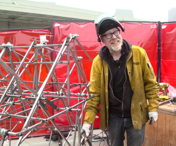 Adam Savage Builds a Walking Strandbeest