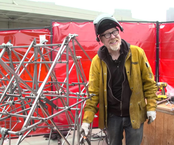 Adam Savage Builds a Walking Strandbeest