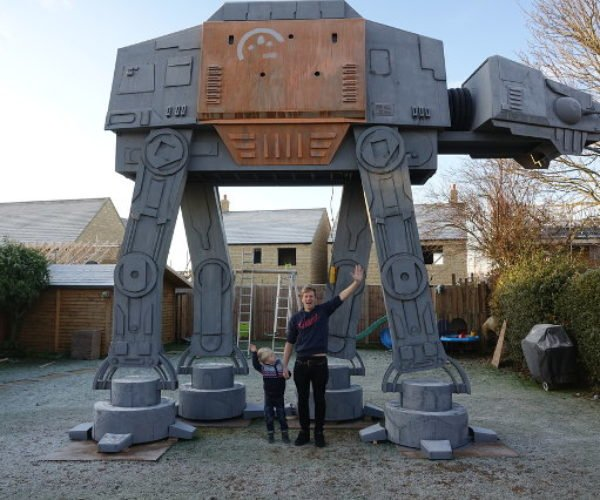 Colin Furze Builds 18-Foot Star Wars AT-ACT Playhouse