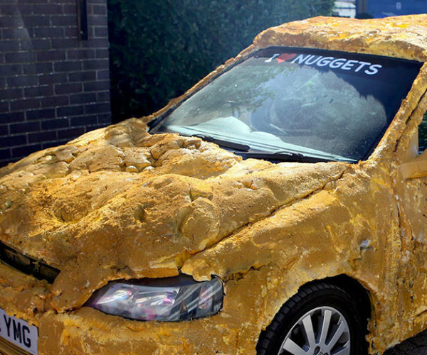 Woman Turns Fiancé's Car Into Giant Chicken Nugget