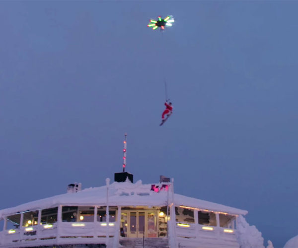 Massive Drone Pulls a Snowboarder into the Air