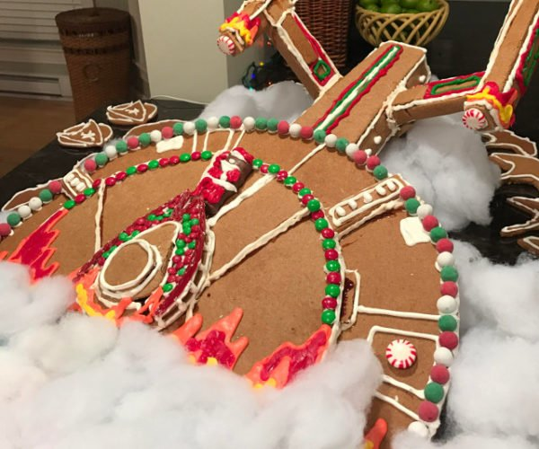 USS Enterprise Gingerbread Spaceship: Stomach, The Final Frontier