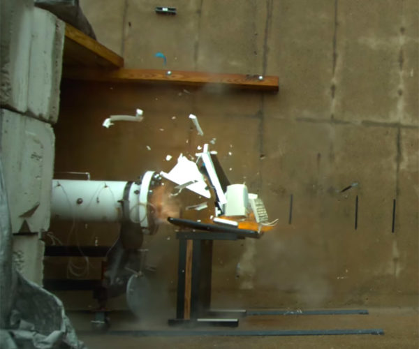 Watch an Old iMac Get Destroyed by a Combustion Tube