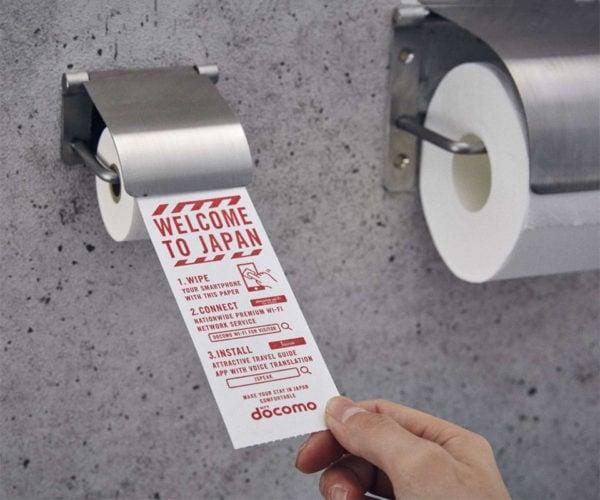 Tokyo Airport Offers Toilet Paper for Smartphones
