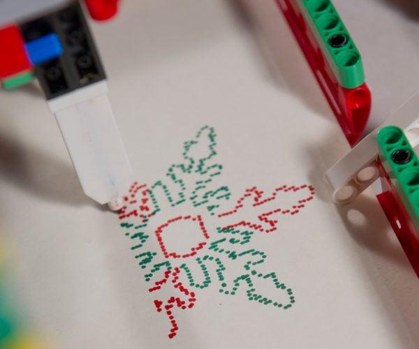LEGO Machine Draws Custom Christmas Cards