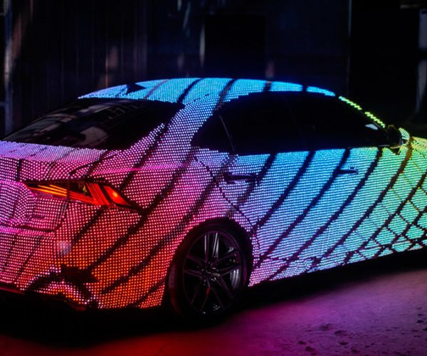 This Lexus Is Covered with 42,000 Programmable LEDs