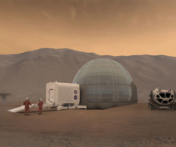 NASA Mars Ice Home is Like a Frozen Innertube