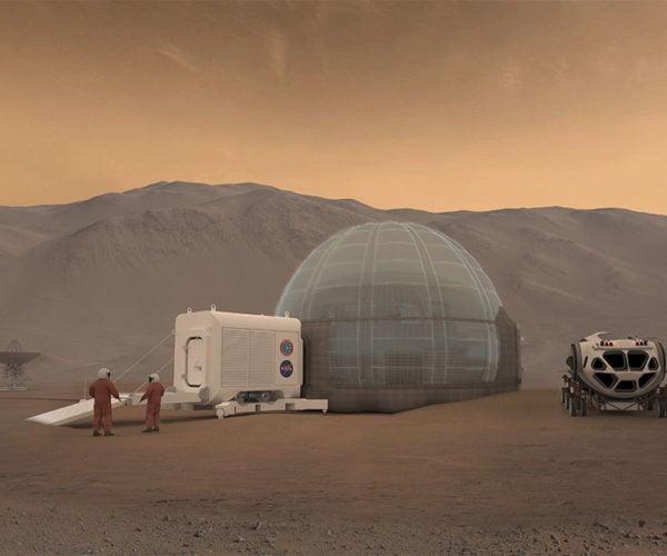 NASA Mars Ice Home is Like a Frozen Innertube