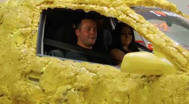 Woman Turns Fiancé's Car Into Giant Chicken Nugget - Technabob