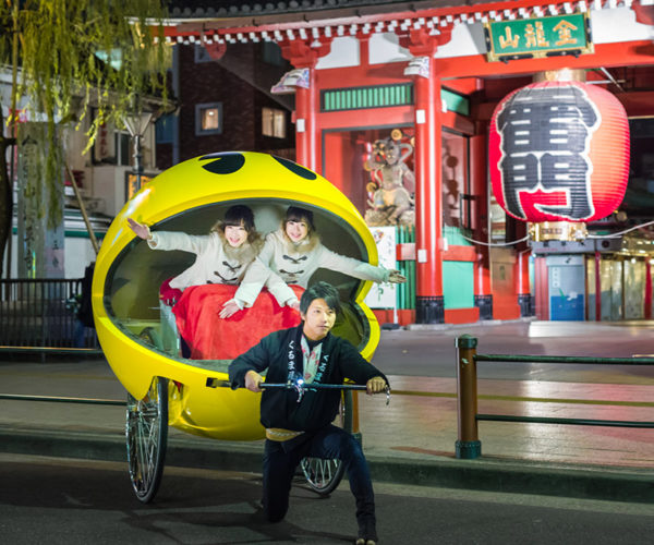 Pac-Man Rickshaw Takes to the Streets of Tokyo