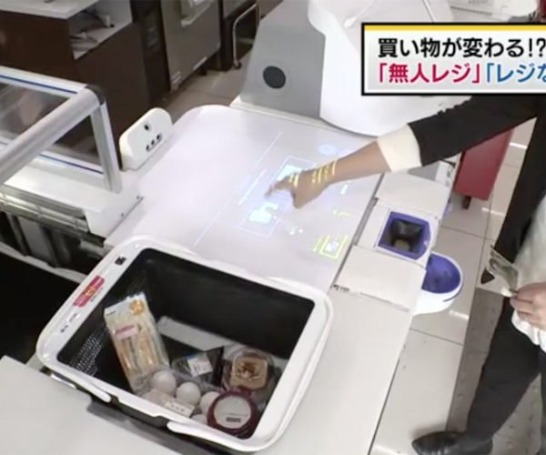Panasonic's New Checkout Machine Will Also Bag Your Items