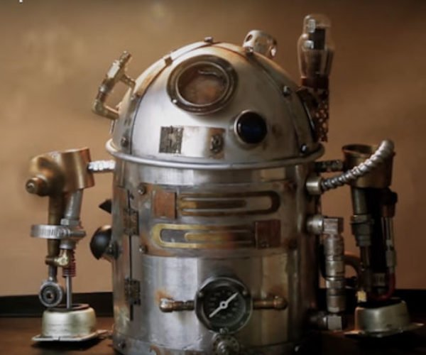 Make a DIY Star Wars R2-D2 Steampunk Teapot: R2-D2-Steam2-T2
