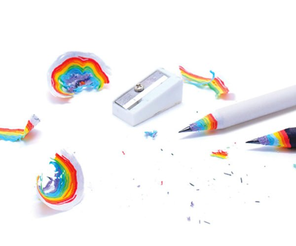 These Rainbow Pencils Make the Coolest Shavings