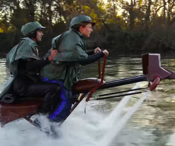 Jetovator Watercraft Turned Into Star Wars Speeder Bikes