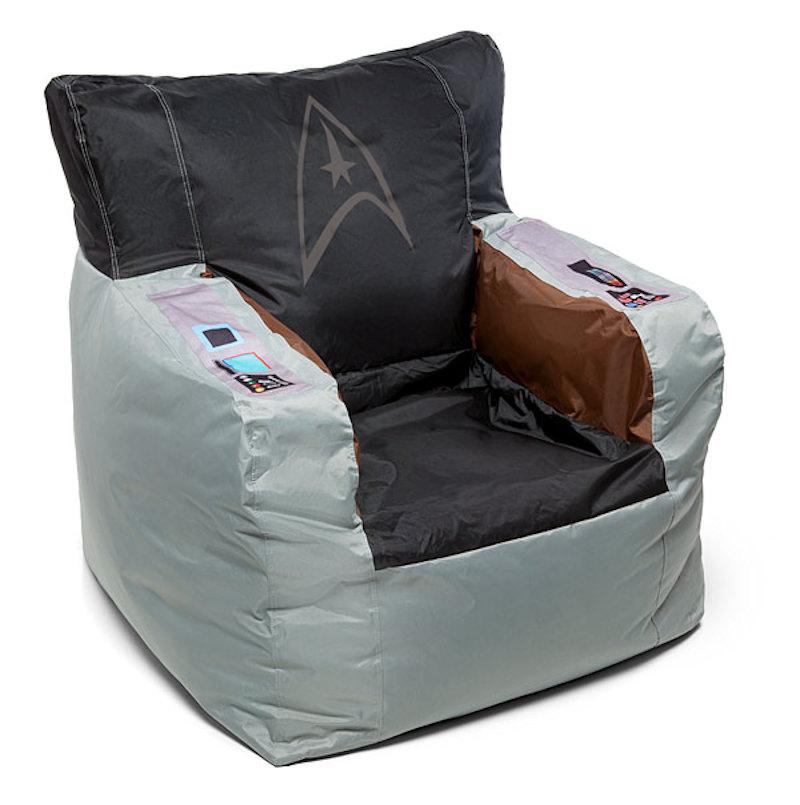Fabulous Captain Kirks Command Chair In Bean Bag Form Short Links Chair Design For Home Short Linksinfo