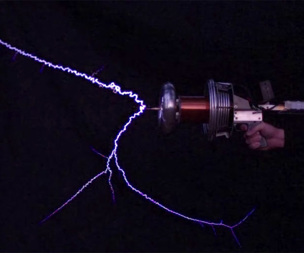 This Tesla Coil Gun Is Straight out of a Video Game