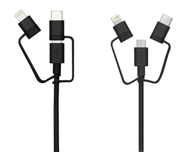 Deal: 3-in-1 Lightning, MicroUSB & USB-C Cable