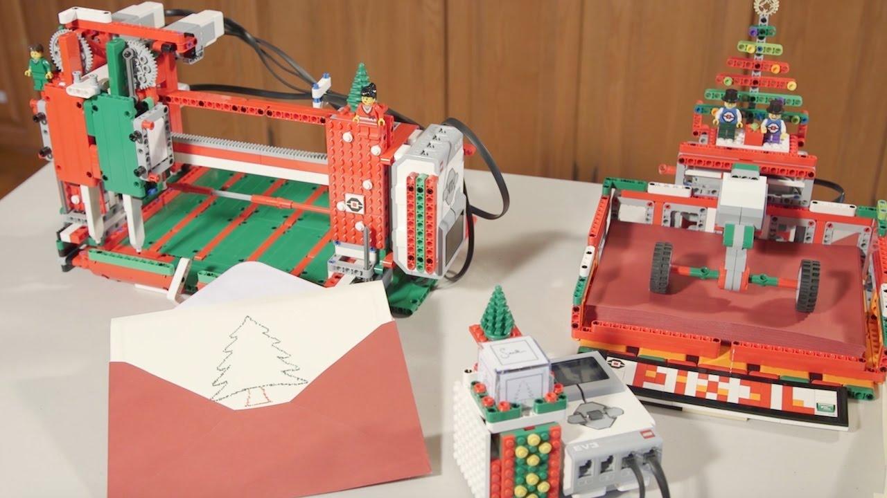 LEGO Machine Draws Custom Christmas Cards - Technabob