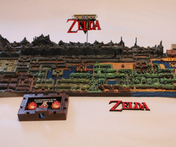 Original The Legend of Zelda Map Printed In 3D