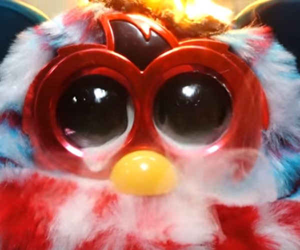 Watch a Furby Get Roasted Alive from Within