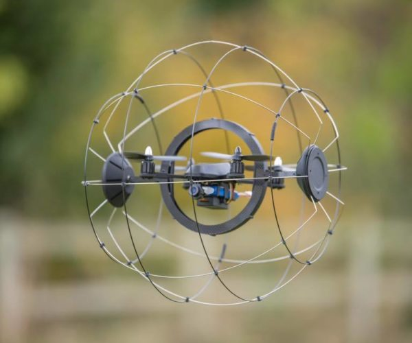 Droneball Drone Laughs in the Face of Crashes